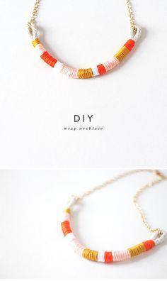 Make this super cute DIY wrap necklace.