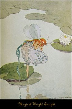 """""""Every fairy wished to look his very best."""" Illustration by Maginal Wright Enright, Fairy Paintings, Kobold, Vintage Fairies, Mystique, Fairytale Art, Beautiful Fairies, Flower Fairies, Fairy Art, Magical Creatures"""