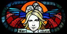 "ArtistPortfolio.Net - ""Kurt Cobain"" window by Anna Truckey."