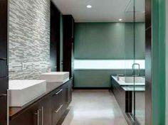 salle de bain avec des lignes épurées