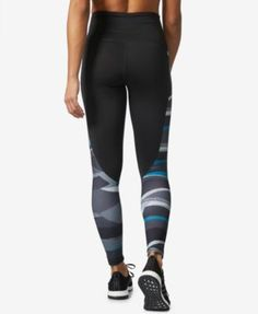 adidas Performer Camono ClimaLite Striped High-Rise Compression Leggings - Black 2XL