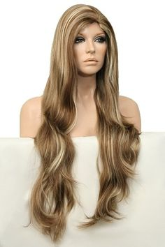 BEAUTIFUL// GORGEOUS // Flowing Long Layers Full Wig // #12Light Golden Reddish Brown