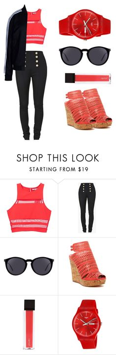 """""""An Everyday Outfit"""" by merrym27 ❤ liked on Polyvore featuring T By Alexander Wang, Balmain, Yves Saint Laurent, Charles by Charles David, Jouer, Swatch and adidas Originals"""