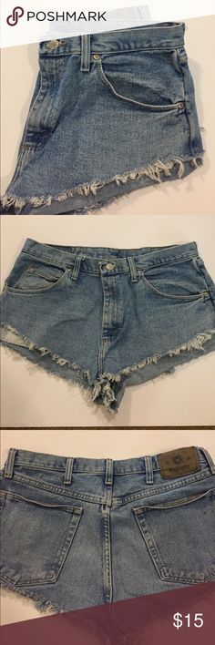 Vintage Jean shirts - high waisted High waisted jean shorts from Urban Outfitters -- size L. NEVER WORN! Urban Outfitters Shorts Jean Shorts