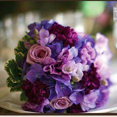 Windor ballroom purple flowers