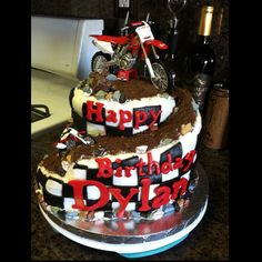 Dirtbike cake ..Facebook page cake creations by Ida