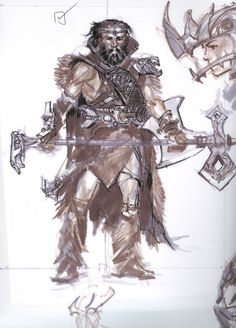Unfinished Nord Sketch from The Elder Scrolls V: by Elder Scrolls Games, Elder Scrolls V Skyrim, Skyrim Pc, Character Concept, Concept Art, Iron Age, Character Design References, Cool Art, Awesome Art