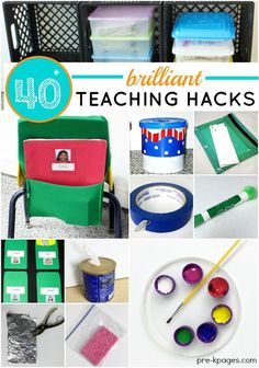 40+ Brilliant Teaching Hacks. Awesome ideas for making your teaching life easier and saving money. Teacher hacks you wish you had known sooner! - Pre-K Pages