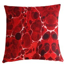 Kerrie Brown - Cushion -Marble in Red and White,(http://www.kerriebrown.com/cushion-covers/cushion-flower-combo-yellow/)