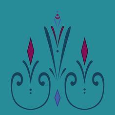 Elsa coronation dress pattern (skirt) Art Print