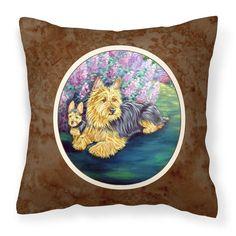 Carolines Treasures Australian Terrier and Puppy Decorative Outdoor Pillow - 7209PW1414