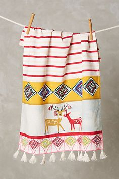 $16 dish towel from Anthropologie just too damn cute