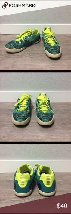 Kobe 9 EM Easter Size 7Y Great shoes! These have definitely been well loved, but are still in good condition. The only cosmetic problem is the slight yellowing around the bottom as you can see in the pictures. These will also fit a women's 8.5! Nike Shoes Athletic Shoes