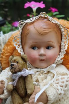 18-Early-antique-vintage-old-papier-mache-baby-doll