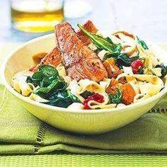 mediterranean salmon & noodle bowl