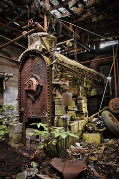 Old Boiler Room by ~DollStewart on deviantART. Repined from your #cooling #heating, and #commercial kitchen Specialist at E. L. Walters Air Conditioning & Heating Inc. www.elwalters.com
