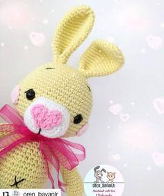 Free Amigurumi Crochet – Free amigurumi patterns and amigurumi crochets Crochet Amigurumi Free Patterns, Free Crochet, Crochet Bunny, Stuffed Toys Patterns, Crochet Hooks, Crafts, Handmade, Easter, Doll