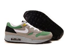super popular 59821 00c94 Newest Mens Nike Air Max 1 Classic Green Barely Grey Medium Grey Shoes  Sports Shoes Store