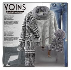 """YOINS.com"" by monmondefou ❤ liked on Polyvore featuring moda, Hudson Jeans, UGG Australia, Coal, Yves Saint Laurent, Piel Leather, women's clothing, women's fashion, women e female"