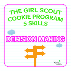 From deciding on their marketing strategies to choosing how they will use their troop proceeds, Girl Scouts make big decisions when they participate in the Girl Scout Cookie Program! This key skill helps prepare girls for a lifetime of great decisions!