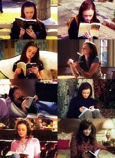 Rory reading - Gilmore Girls