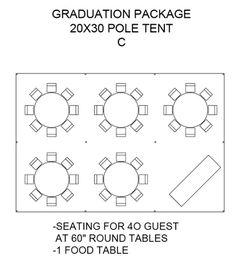 Graduation Package 20x30 Pole Tent C