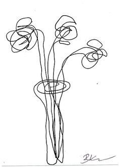 Imagini pentru drawing with one continuous line Daisy Flower Drawing, Flower Line Drawings, Drawing Flowers, Single Line Drawing, Continuous Line Drawing, Amazing Drawings, Easy Drawings, Contour Line Drawing, Line Art Tattoos