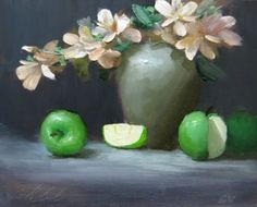 'Green Apples', painting by artist Justin Clements,,,,,I love love this