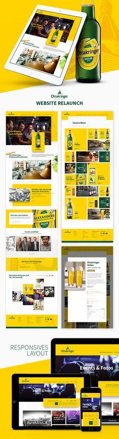 Agile und mobile-first entwickelte Responsive-Website für Ottakringer. Website Designs, Design Websites, Website Layout, Web Design, Design Web