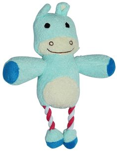 Squeaky plush toys for dogs with ropes. Hippo and Raccoon characters. Lightweight, soft with playful squeak. cat toys from Ebelyn -- Special  product just for you. See it now!