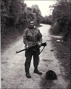 Forrest Guth (1921– 2009) One of the original 140 men who trained under Sobel at Camp Toccoa. Guth had the ability to repair and modify weapons. For instance, he could make an M-1 rifle fully automatic.He became the armorer for his comrades.Guth's uniform was also unique, Guth sew on it many extra pockets. Guth fought in D-Day, the Netherlands, and the Battle of Bulge.