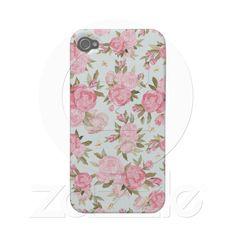 Floral Vintage Case Case-mate Iphone 4 Case from Zazzle.com