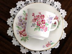 Royal Vale Vintage Teacups  Tea Cup and Saucer by TheVintageTeacup