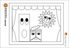 Ζωγραφοσελίδα Ντενεκεδούπολη 3--Ο Σαρδέλας , ο Οκέι μπαμ μπαμ και ο Ήλιος της Ντενεκεδούπολης μας παρουσιάζονται στο κουκλοθέατρο για να ξεκινήσει η παράσταση . Ας τους χρωματίσουμε λοιπόν    #logouergon #selideszografikis #ntenekedoupoli November, Kids Rugs, Cards, Decor, November Born, Decoration, Kid Friendly Rugs, Maps, Decorating