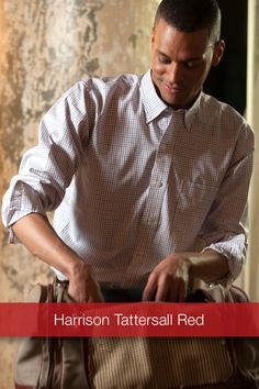 J Wingfield: Harrison Tattersall Red  With fresh colors infused in this classic weave, the classically woven Harrison Tattersall Red/Royal Button Down is soft, rugged and looks great with khakis or jeans.