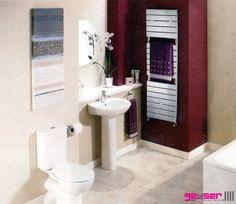 "Geyser ""PALERMO"" Cromo (Chrome) Heated Towel Rail / Electric Towel Rail."