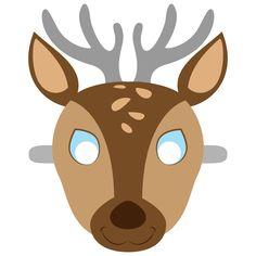 Deer Mask Template | Free Printable Papercraft Templates Animal Mask Templates, Printable Animal Masks, Lion Kids Crafts, Papercraft Anime, Theme Carnaval, Fathers Day Art, Lion Mask, Templates Printable Free, Mask For Kids