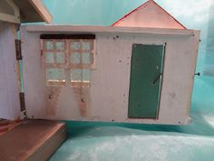 Gottschalk Red Roof Two Room Cottage Bungalow with Front Porch