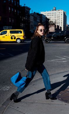 Street style -- black and denim