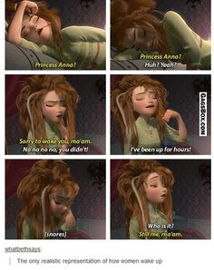 Some realistic represention by Disney in Frozen