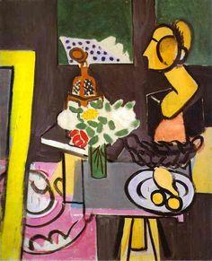 Henri Matisse >> Stilleben mit Kürbissen | (öl, Gemälde, Reproduktion, Kopie, Gemälde).