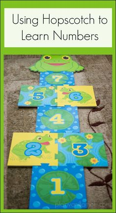Using Hopscotch to Learn Numbers. With a few variations on play it can be a great tool for toddlers and preschoolers.