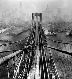 Arthur Leipzig, Brooklyn Bridge, New York City, circa 1946.