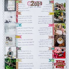Not finished scrapbooking last year? Create a page capturing the highlights and move on. Keep it simple, friends! // Layout by @mellybird