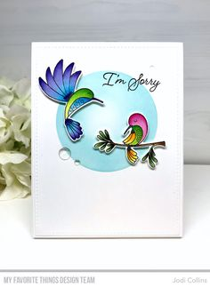 Happy Tuesday and Happy MFT Release Day! All of the fabulous new products are available now in the MFT Boutique! Lisa Johnson, Mft Stamps, Bird Cards, Happy Tuesday, Pretty Cards, Copic Markers, Color Card, Small Flowers, Cards