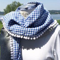 Ghingham! #lepezze #ghingham #foulard #vichy #blue www.lepezze.com