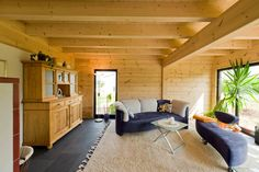 blockhaus innen - Google Search House Inside, Log Homes, Patio, Google, Outdoor Decor, Inspiration, Furniture, Home Decor, Timber Homes