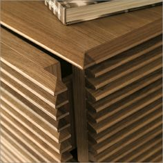 porada riga 1 chest of drawers, canaletto walnut by t. colzani