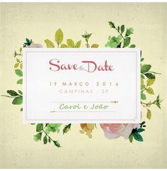 Save the date Flores - Carol e João