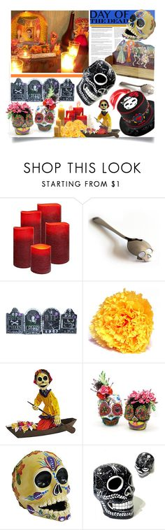 Día de Muertos : Day of the Death by prigaut on Polyvore featuring interior, interiors, interior design, home, home decor, interior decorating, Dayofthedead and MexicanLove